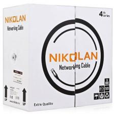 Кабель Nikolan 4600b-bk, U/UTP,5e, Внешний, PE, Черный