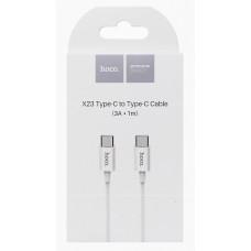 Кабель USB Type-C to Type-C 3.0A Hoco X23 Skilled 1.0 м, белый